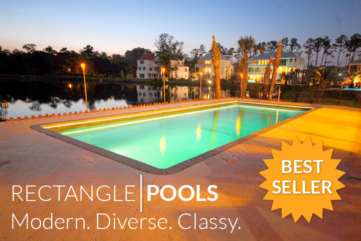 Swimming Pool Gallery Rectangle | Able Pool & Spa